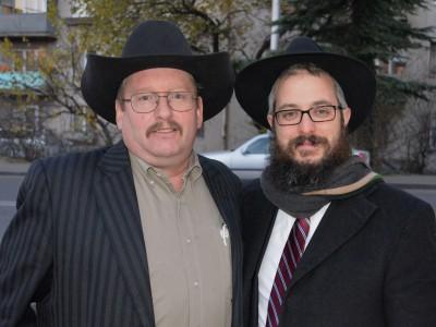 John And Rabbi Meir Kozlovsky
