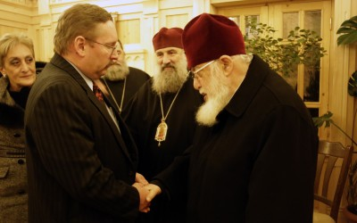 Patriarch Ilia and John M. Simmons